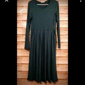 Reborn J Teal Midi Dress Large